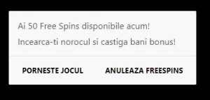 50 Rotiri/Spins Gratuit