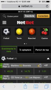 NetBet pe mobil