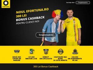 activare-bonus-cashback-efortuna-romania-300-lei
