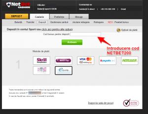 Cod bonus NetBet Romania