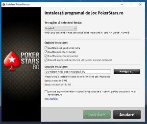 instalare program pokerstars