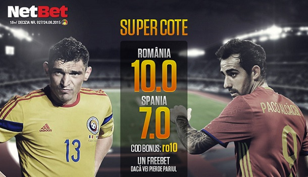 promotie NetBet supercote Romania v Spania